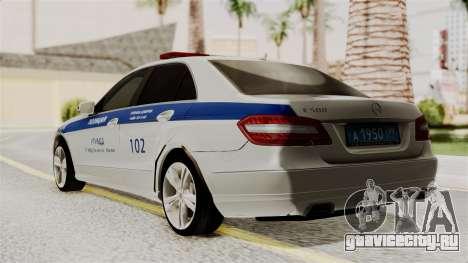 Mercedes-Benz Е500 МВД ГИБДД для GTA San Andreas вид слева