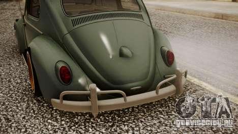 Volkswagen Beetle Aircooled для GTA San Andreas вид сзади
