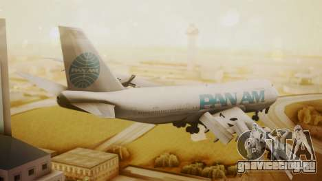 Boeing 747-100 Pan Am Clipper Juan T. Trippe для GTA San Andreas вид слева