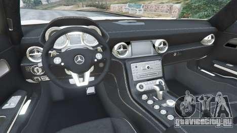 Mercedes-Benz SLS AMG Coupe для GTA 5 вид справа