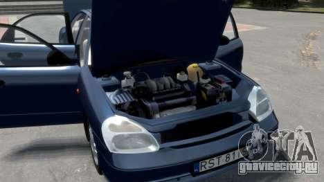 Daewoo Nubira II Sedan S PL 2000 для GTA 4 двигатель