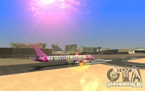 LoveLive Boeing 787-9 Livery для GTA San Andreas вид слева
