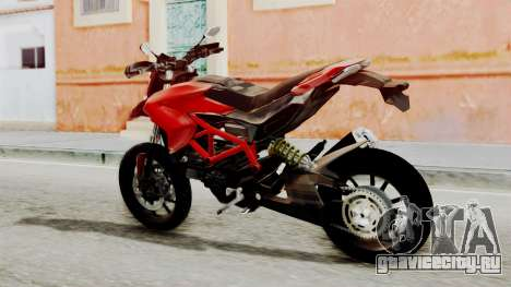 Ducati Hypermotard для GTA San Andreas вид слева