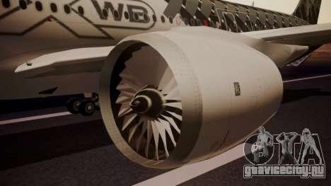 Airbus 350-900XWB MSN2 Carbon Livery для GTA San Andreas вид справа