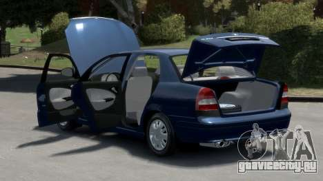 Daewoo Nubira II Sedan S PL 2000 для GTA 4 вид изнутри