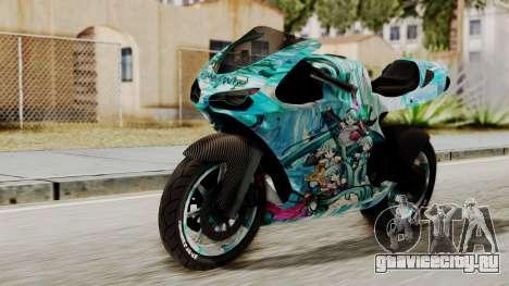 Bati Motorcycle Hatsune Miku Itasha для GTA San Andreas