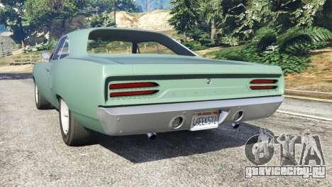 Plymouth Road Runner 1970 [fix] для GTA 5 вид сзади слева