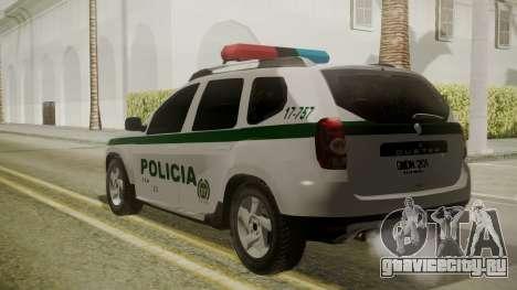 Renault Duster Patrulla Policia Colombiana для GTA San Andreas вид слева
