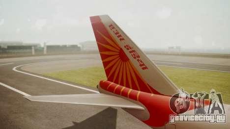 Boeing 747-8I Air India для GTA San Andreas вид сзади слева