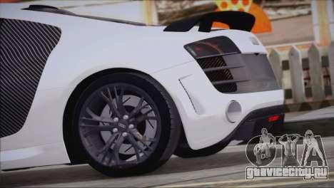 Audi R8 GT 2012 Sport Tuning V 1.0 для GTA San Andreas вид слева