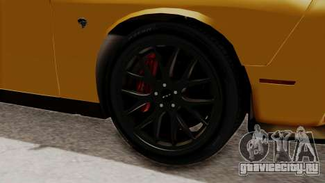 Dodge Challenger SRT Hellcat 2015 IVF PJ для GTA San Andreas вид сзади слева