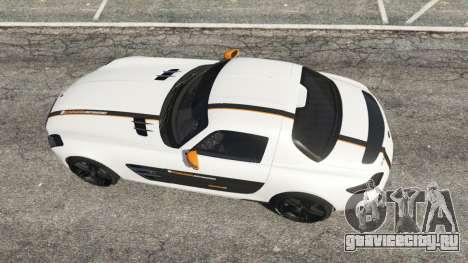 Mercedes-Benz SLS AMG Coupe для GTA 5 вид сзади