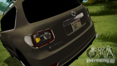 Nissan Patrol IMPUL 2014 для GTA San Andreas вид снизу