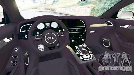 Audi RS4 Avant 2014 для GTA 5 вид сзади справа