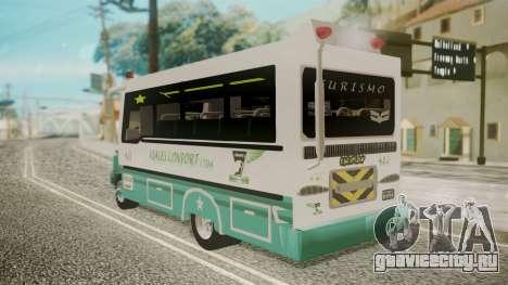 Chevrolet B70 Bus Colombia для GTA San Andreas вид слева