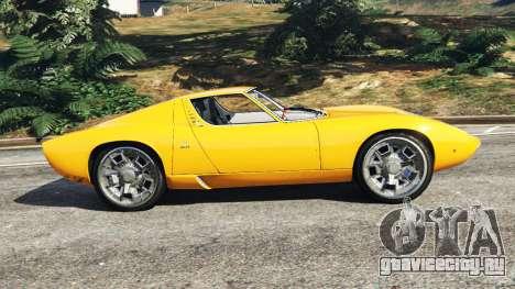 Lamborghini Miura P400 1967 для GTA 5 вид слева
