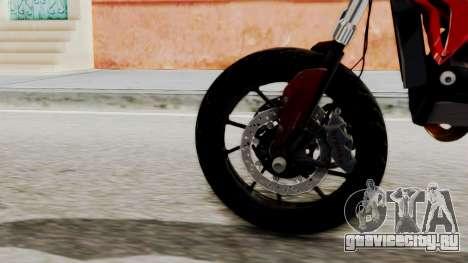 Ducati Hypermotard для GTA San Andreas вид сзади слева