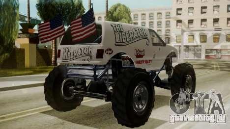 GTA 5 Vapid The Liberator для GTA San Andreas вид слева