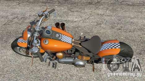 Harley-Davidson Fat Boy Lo Racing Bobber v1.2 для GTA 5 вид сзади