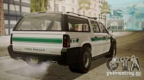 GTA 5 Declasse Granger Park Ranger IVF для GTA San Andreas вид слева