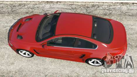 BMW M6 (E63) для GTA 5 вид сзади