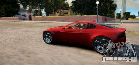 Aston Martin DB9 Vice City Deluxe для GTA 4 вид сзади слева