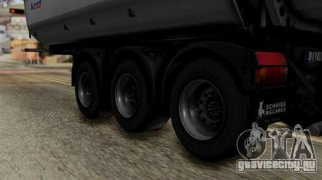 Schmied Bigcargo Solid Trailer Stock для GTA San Andreas вид сзади слева