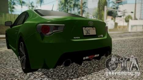 Toyota GT86 2012 для GTA San Andreas вид сверху