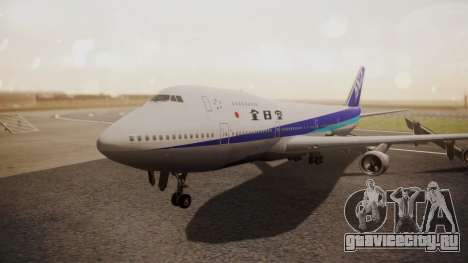 Boeing 747SR All Nippon Airways (NC) для GTA San Andreas вид слева