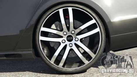 Audi A8 для GTA 5 вид сзади справа
