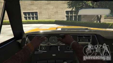 Chevrolet El Camino SS 1970 для GTA 5 вид сзади