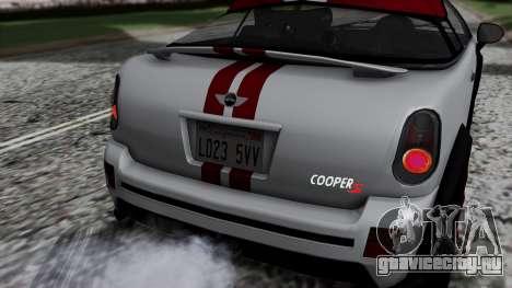 Mini Cooper S Weeny Issi для GTA San Andreas вид сзади