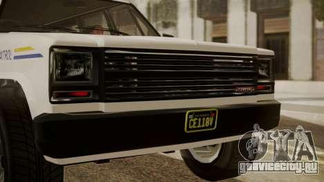 GTA 5 Declasse Rancher XL Police IVF для GTA San Andreas вид сзади