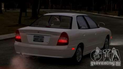 Daewoo Nubira II Sedan SX USA 2000 для GTA 4 вид справа
