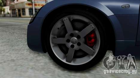 Opel Speedster Turbo 2004 Stock для GTA San Andreas вид сзади слева