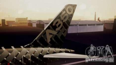 Airbus 350-900XWB MSN2 Carbon Livery для GTA San Andreas вид сзади слева