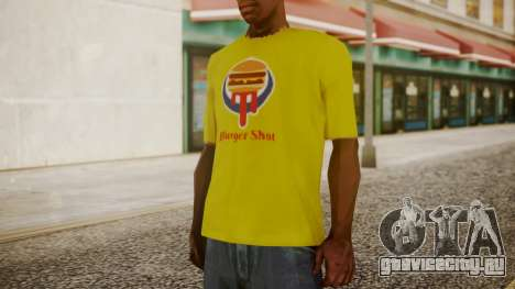 Burger Shot T-shirt Yellow для GTA San Andreas второй скриншот