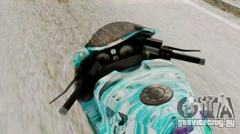 Bati Motorcycle Hatsune Miku Itasha для GTA San Andreas вид сзади