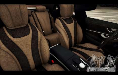 Mercedes Benz S63 W222 Качественный Сток для GTA San Andreas салон
