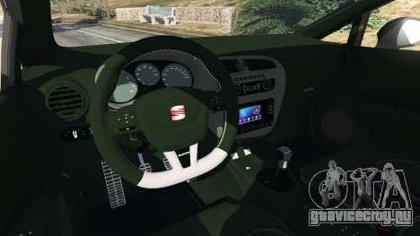 SEAT Leon II 2010 v1.1 для GTA 5 вид сзади справа