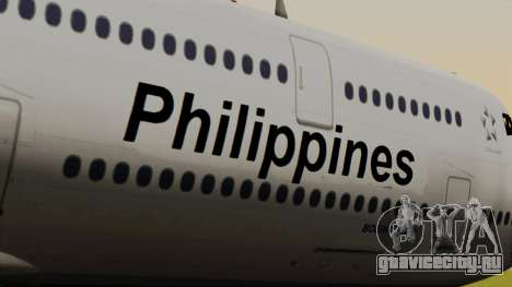 Boeing 747-8I Philippine Airlines для GTA San Andreas вид сзади