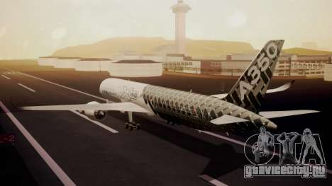 Airbus 350-900XWB MSN2 Carbon Livery для GTA San Andreas вид слева