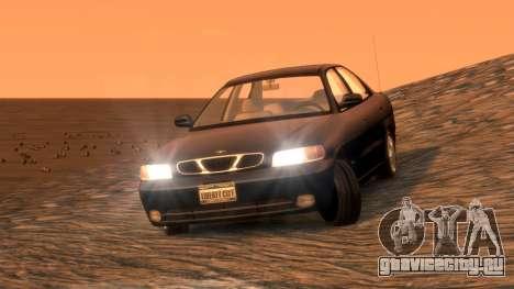 Daewoo Nubira I Sedan SX USA 1999 для GTA 4 вид сзади