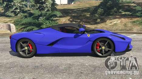 Ferrari LaFerrari 2013 v2.5 для GTA 5 вид слева