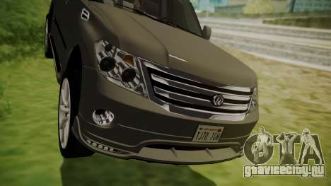 Nissan Patrol IMPUL 2014 для GTA San Andreas вид изнутри