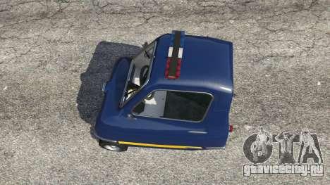 Peel P50 Police для GTA 5 вид сзади справа