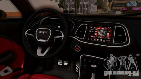 Dodge Challenger SRT Hellcat 2015 IVF PJ для GTA San Andreas вид справа