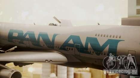 Boeing 747-100 Pan Am Clipper Juan T. Trippe для GTA San Andreas вид сзади
