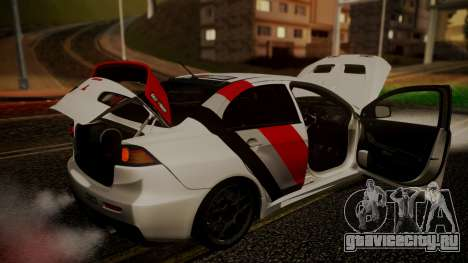 Mitsubishi Lancer Evolution X 2015 Final Edition для GTA San Andreas вид сверху