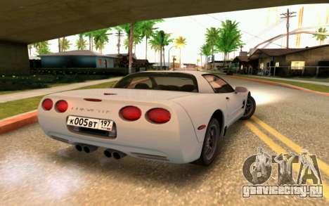 Chevrolet Corvette C5 2003 для GTA San Andreas вид сбоку